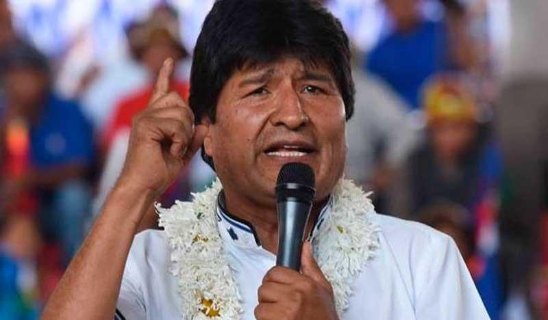 Evo Morales da positivo en prueba de covid; recibe tratamiento