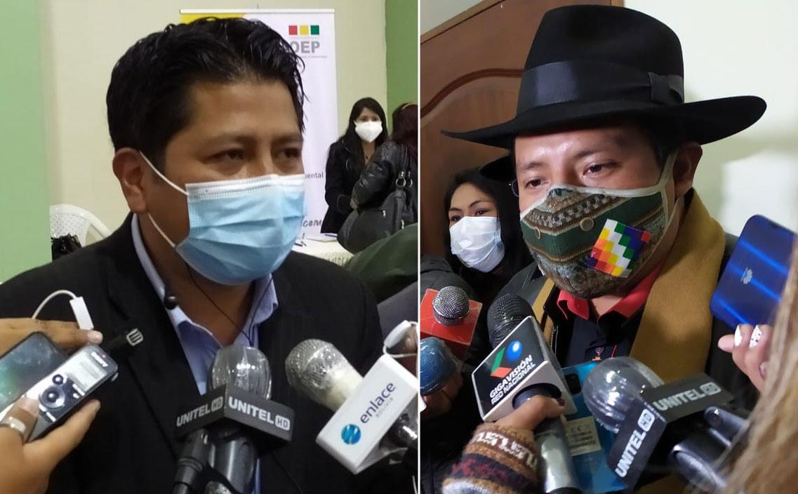 Santos Quispe da por roto su pacto con Jallalla; Chui responde que sería 'traición'