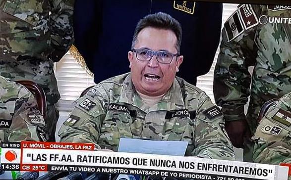 El Ejército de Bolivia asegura que nunca irán en contra del pueblo