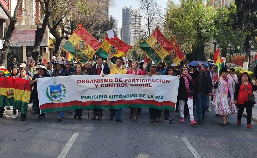 Revilla encabezó la marcha. (Foto/GAMLP)