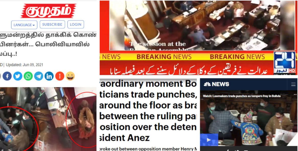 El escándalo en la Asamblea da la vuelta al mundo reflejado en medios desde Europa hasta Asia