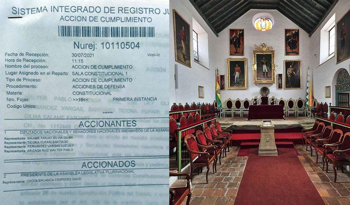 CC de Chuquisaca acude a la justicia para que ordene realizar la Sesión de Honor en Sucre