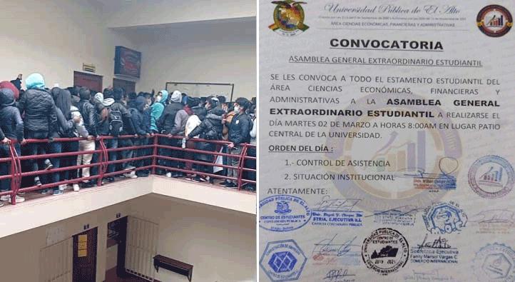 UPEA: Aprehenden a tres dirigentes estudiantiles y serán imputados por homicidio